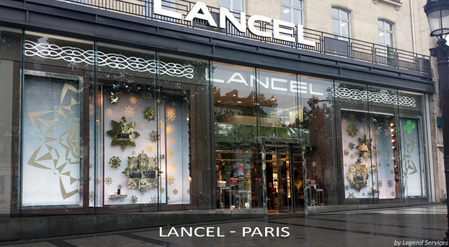 Pose PLV Lancel - Paris (par Legend Services, expert en installation PLV)