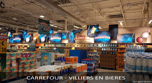 Installation PLV Carrefour