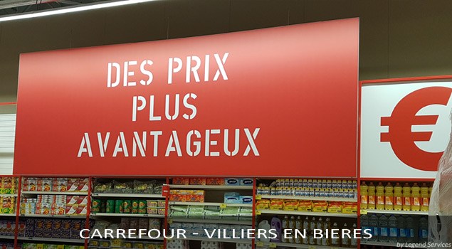 PLV Carrefour avec LegendServices