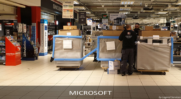 Installation PLV Microsoft France